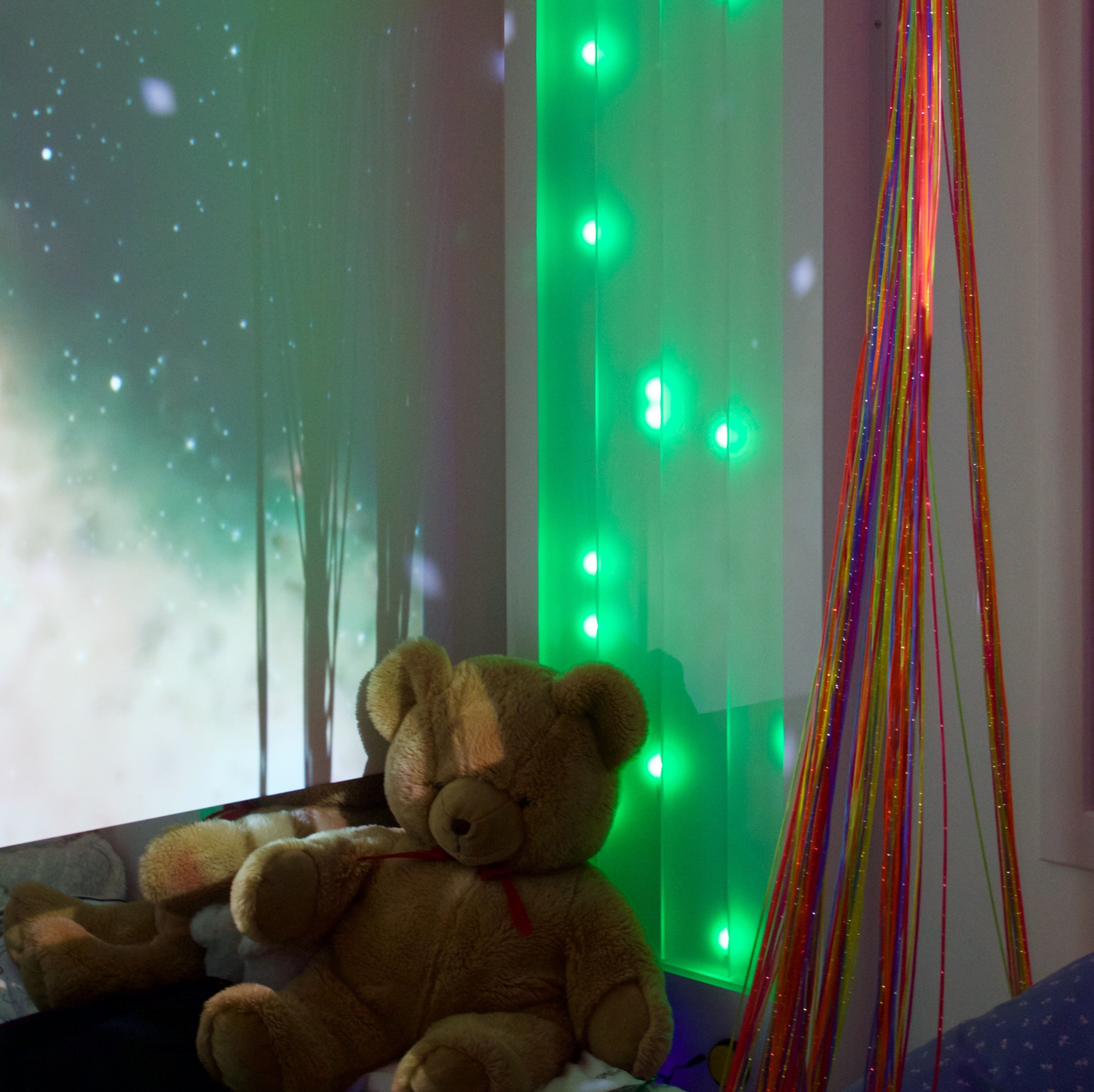 Light wall in sensory room