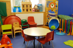 Toy/seating area in soft play room