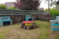 Mud kitchens in garden